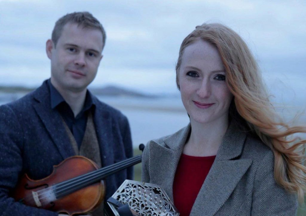 caitlin & ciaran with fiddle and concertina